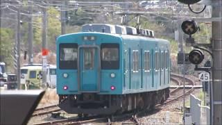 JR紀伊田辺駅にて(2019年3月15日撮影)105系3扉車