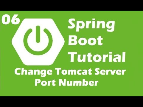 Change Embedded Tomcat Port Number in Spring Boot | Java Inspires