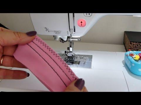 elastische (Jersey) Stiche an der Haushaltsmaschine nähen - YouTube
