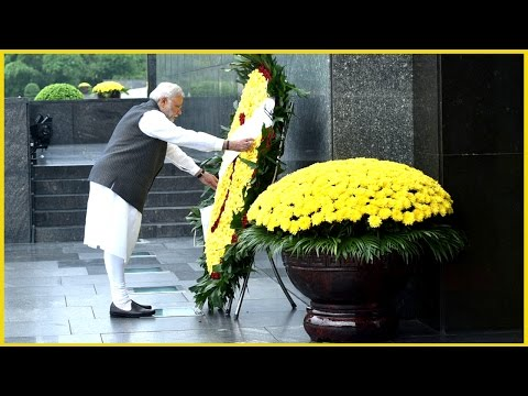 PM Narendra Modi pays homage at mausoleum of Ho Chi Minh in Hanoi