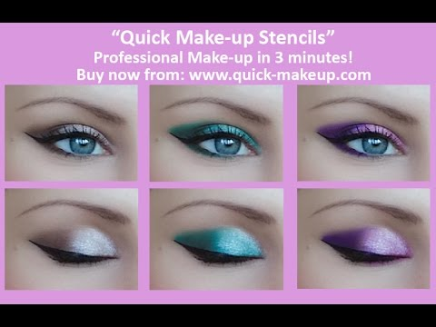 Smokey Cat Eye Tutorial with Quick Make-up Stencils - YouTube