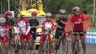 第2ステージのクリテリウム女子は24キロ。安比高原コース2.4キロを...