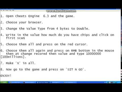 cheat engine texas holdem see cards