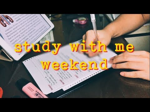 📓STUDY WITH ME! weekend #1: Anthropology, Psychology | Philippines