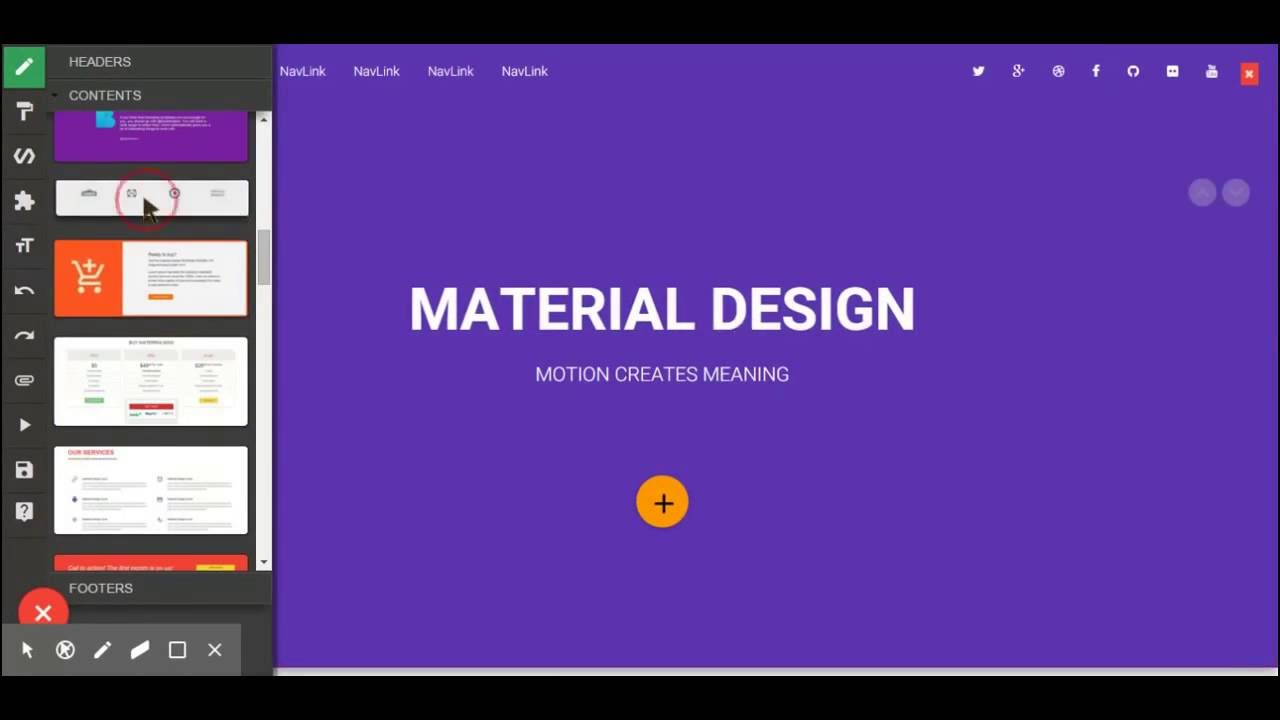 BLOCKS bootstrap website builder - YouTube