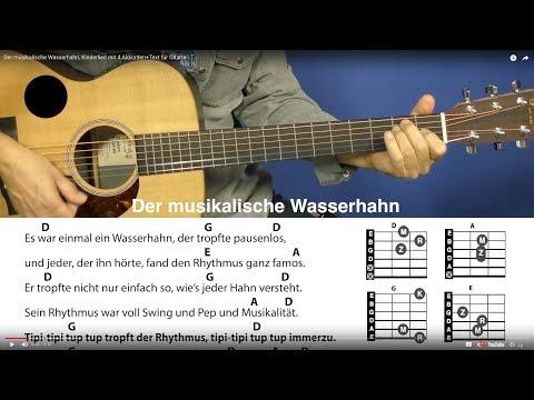 Der musikalische Wasserhahn - Klaus W. Hoffmann, Kinderlied mit Akkorden+Text