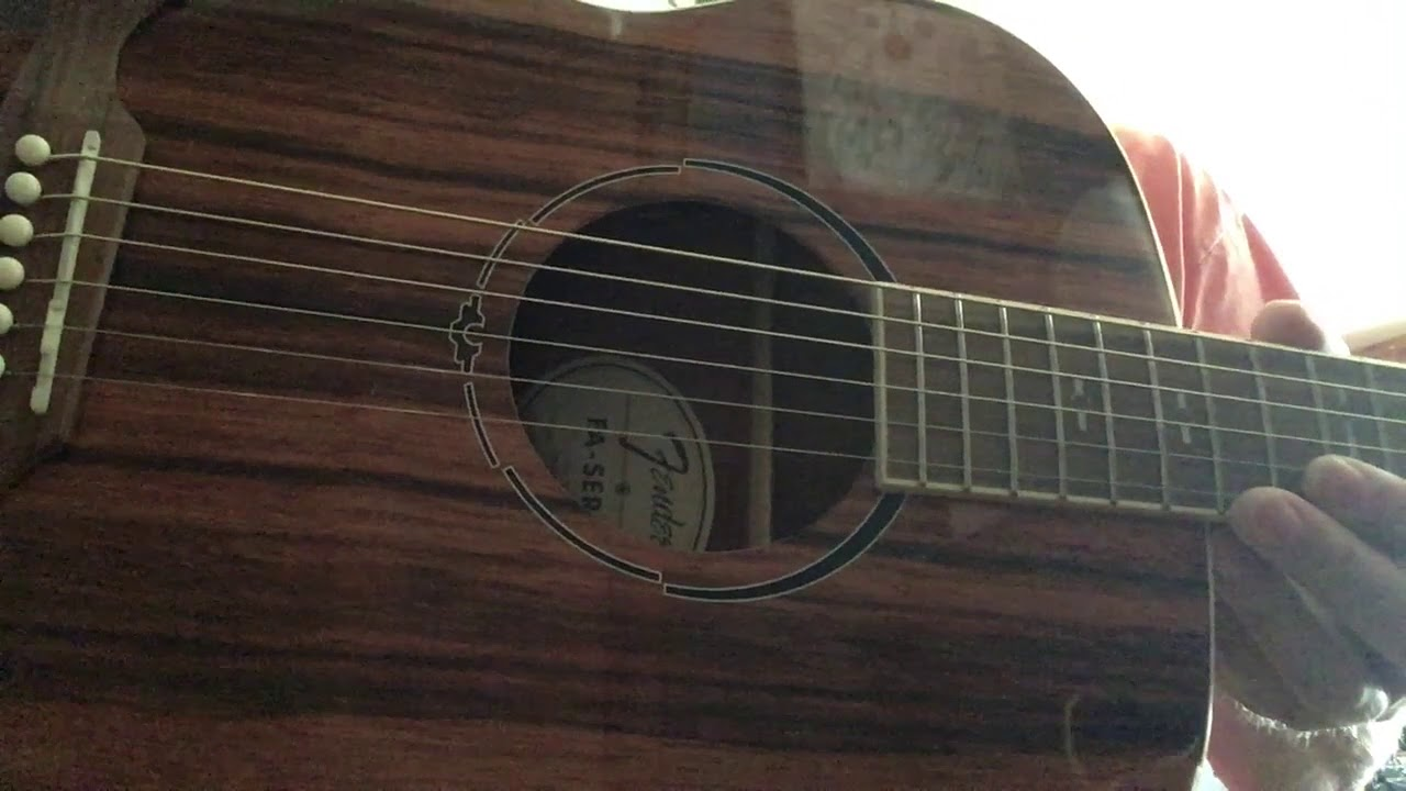 Fender FA235E Striped Ebony E/A Guitar