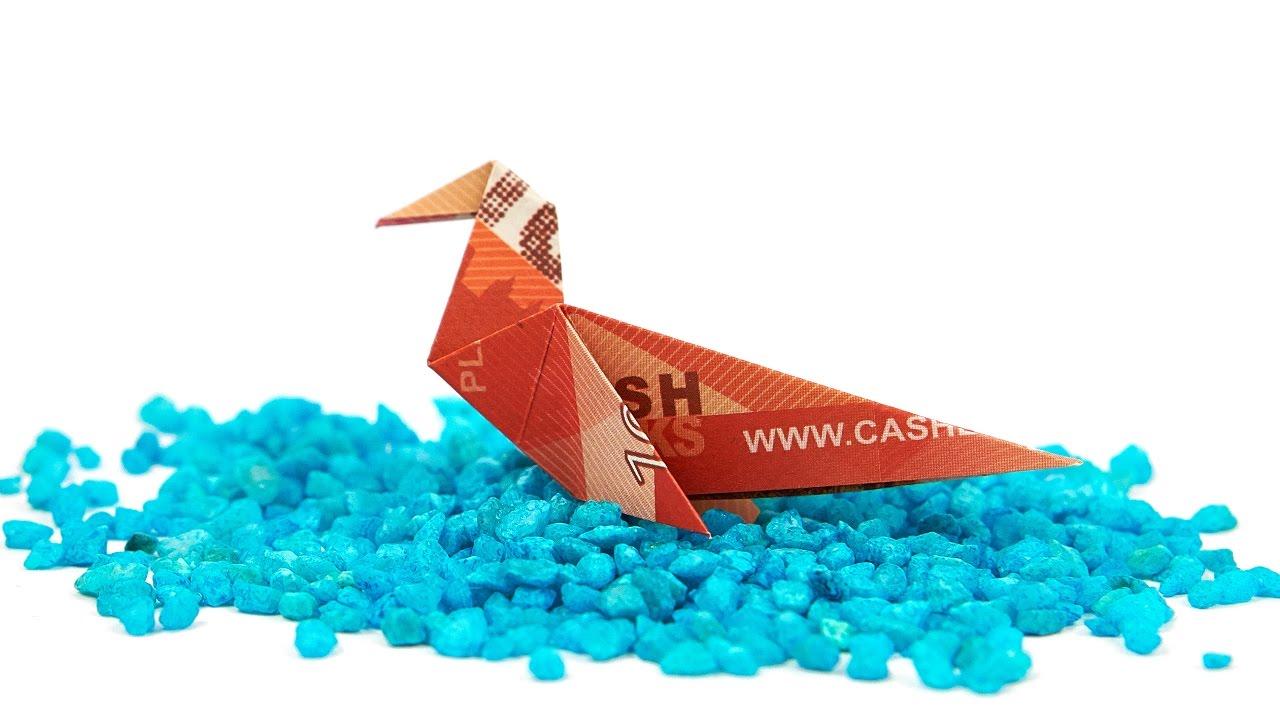 geldschein falten vogel eine ente aus geld falten origami tiere youtube. Black Bedroom Furniture Sets. Home Design Ideas