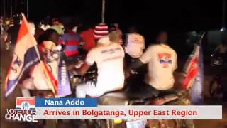 Nana Akufo-Addo Arrives in Bolgatanga.
