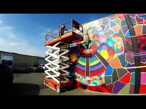"Chor Boogie creates ""Birds & The Bees"" - Mural for Cutting Edge Solutions"