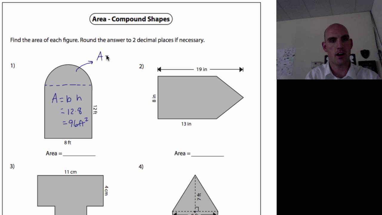 Area Of Compound Shapes 1 Youtube