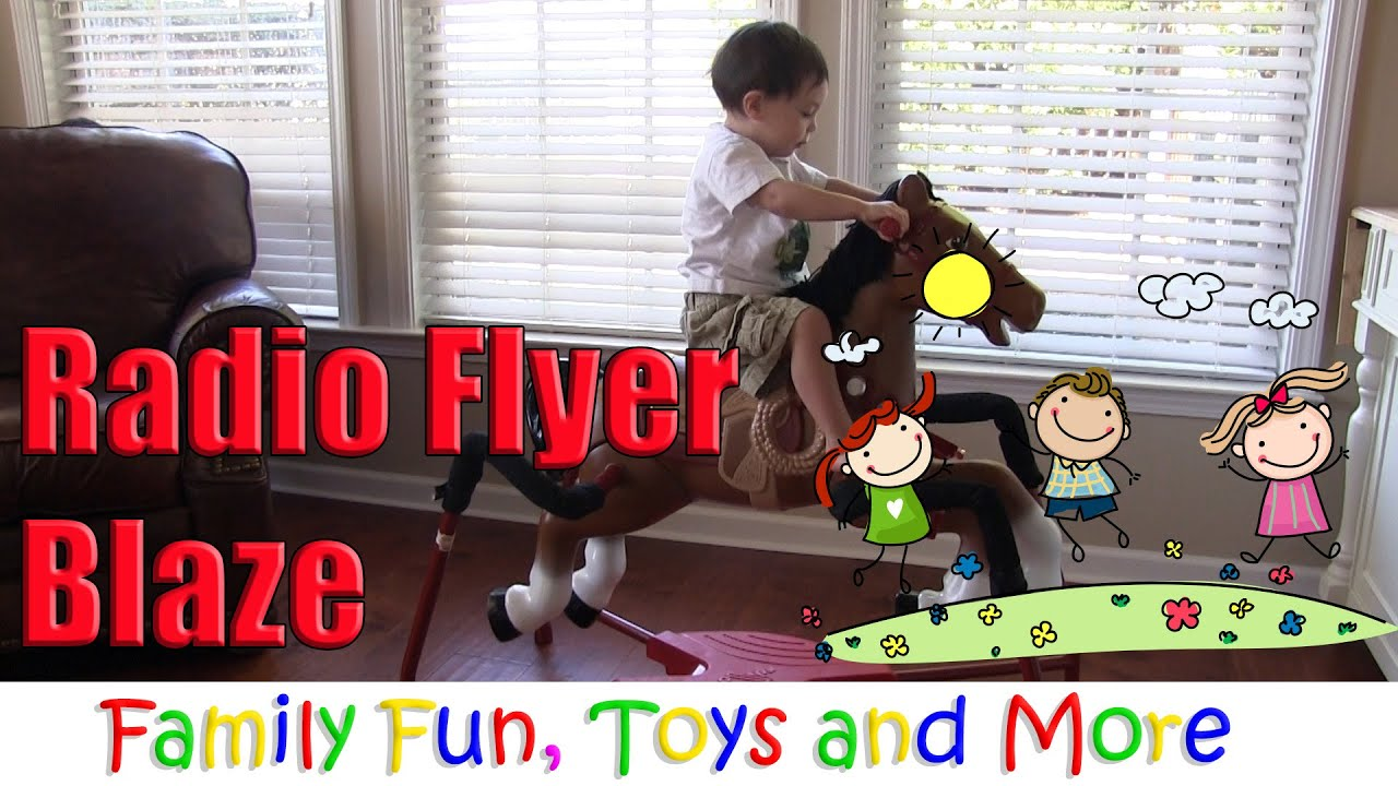Radio Flyer Blaze Interactive Spring Horse Ride- Rocking