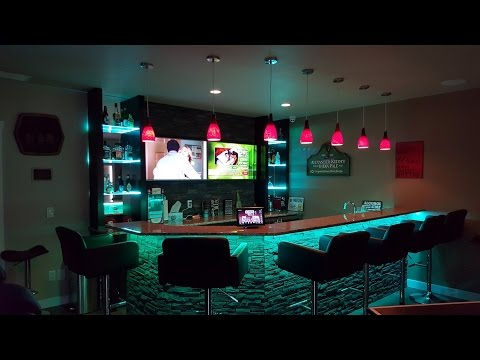 Tech-Home Solutions Basement Bar Automation and Control