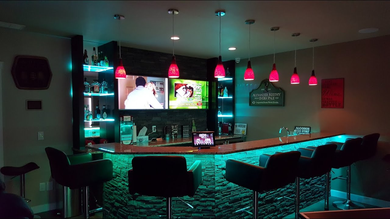 Tech home solutions basement bar automation and control for Cost to build a bar in basement