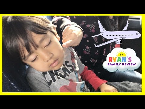Family Fun Vacation! Kid Airplane Trip Disney World! Sour Ice Cream Candy! Ryan's Family Review Vlog