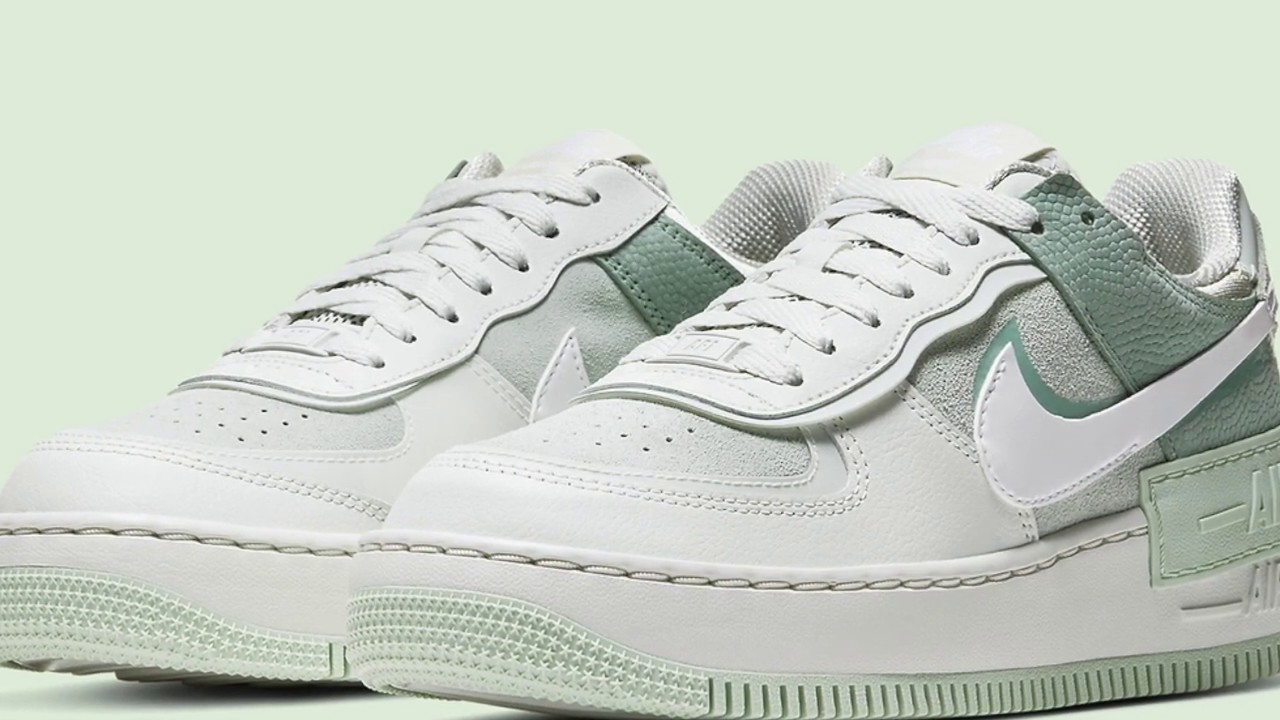 Nike Air Force 1 Shadow In Spruce Aura Green Colorway Youtube Đôi sneakers có màu chủ đạo là sắc trắng. nike air force 1 shadow in spruce aura