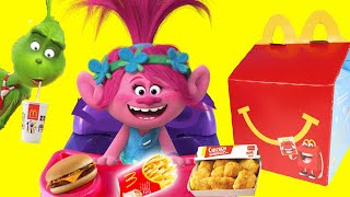 Dreamworks Trolls Happy Meal Lunch at DIY McDonalds Playset with PlayDoh Food