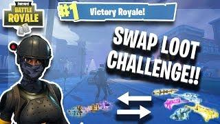 Swap Loot Every Kill Challenge Win!! | Fortnite Battle Royale