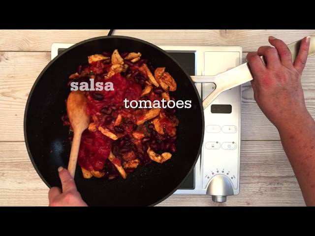 Video Recipe for Mexican Chicken and Kale