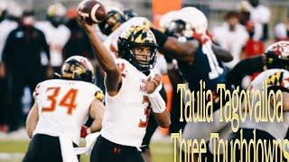 Taulia Tagovailoa Notches Three Touchdowns Vs Penn State 2020 Highlights