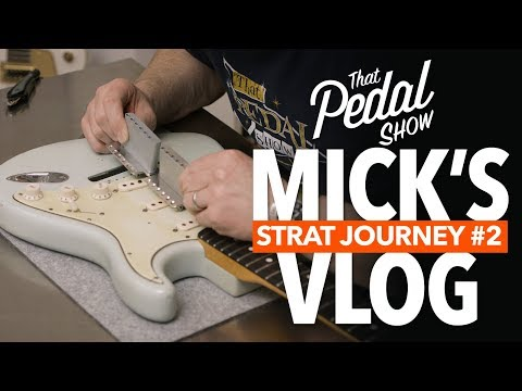 Mick's Vlog – Blue Strat Gets A Callaham Bridge – That Pedal Show