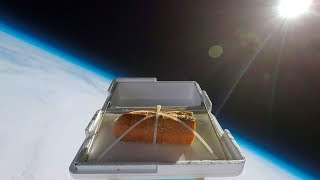 We Sent Garlic Bread to the Edge of Space, Then Ate It thumbnail