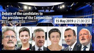 Debate of the candidates for the presidency of the European Commission – EU Elections 2019