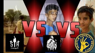 Brock Lesnar vs seth rollins vs john cena#triple threat match