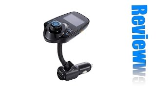 t10 in car bluetooth music player hands free kit and usb charger review