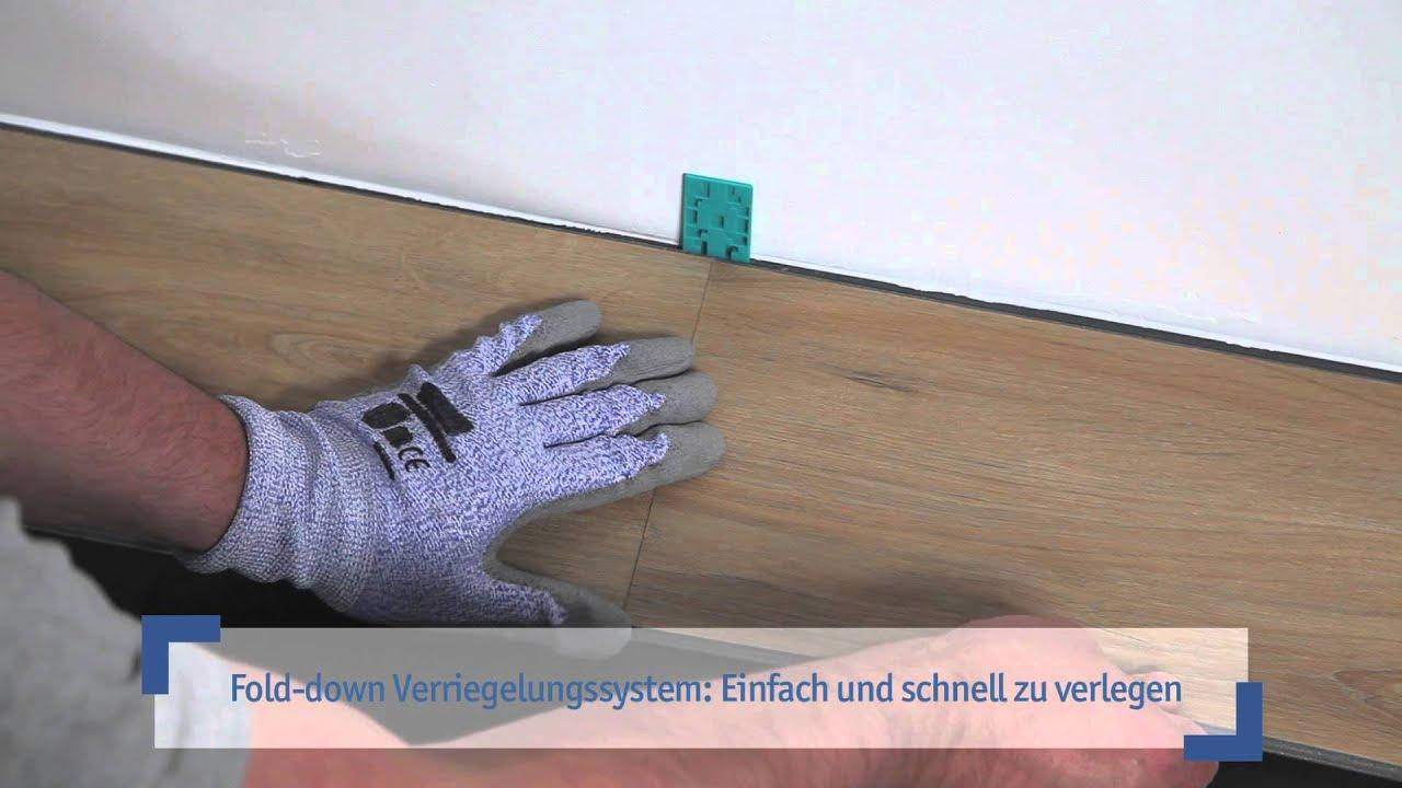 Verlegung Von Tarkett Click-designböden - Youtube Vinylboden Klicken Designboden Verlegen