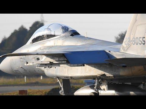 F-15新人イーグルライダー 黒馬ニュータの地で育つ  新田原/飛行教育航空隊23sq/タキシング~テイクオフ/Nov.2015/RW28 [4k]