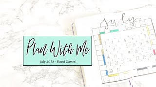 Plan With Me | July 2018 Bullet Journal - Board Game Theme