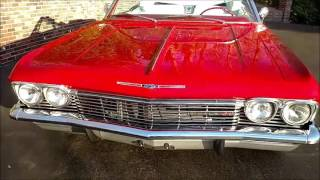 1965 Impala SS Convertible in Torch Red for sale Old Town Automobile in Maryland