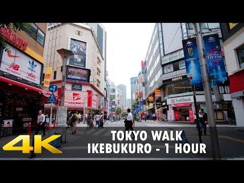 Walking in Tokyo - Ikebukuro 1 hour - Slow TV - 4K
