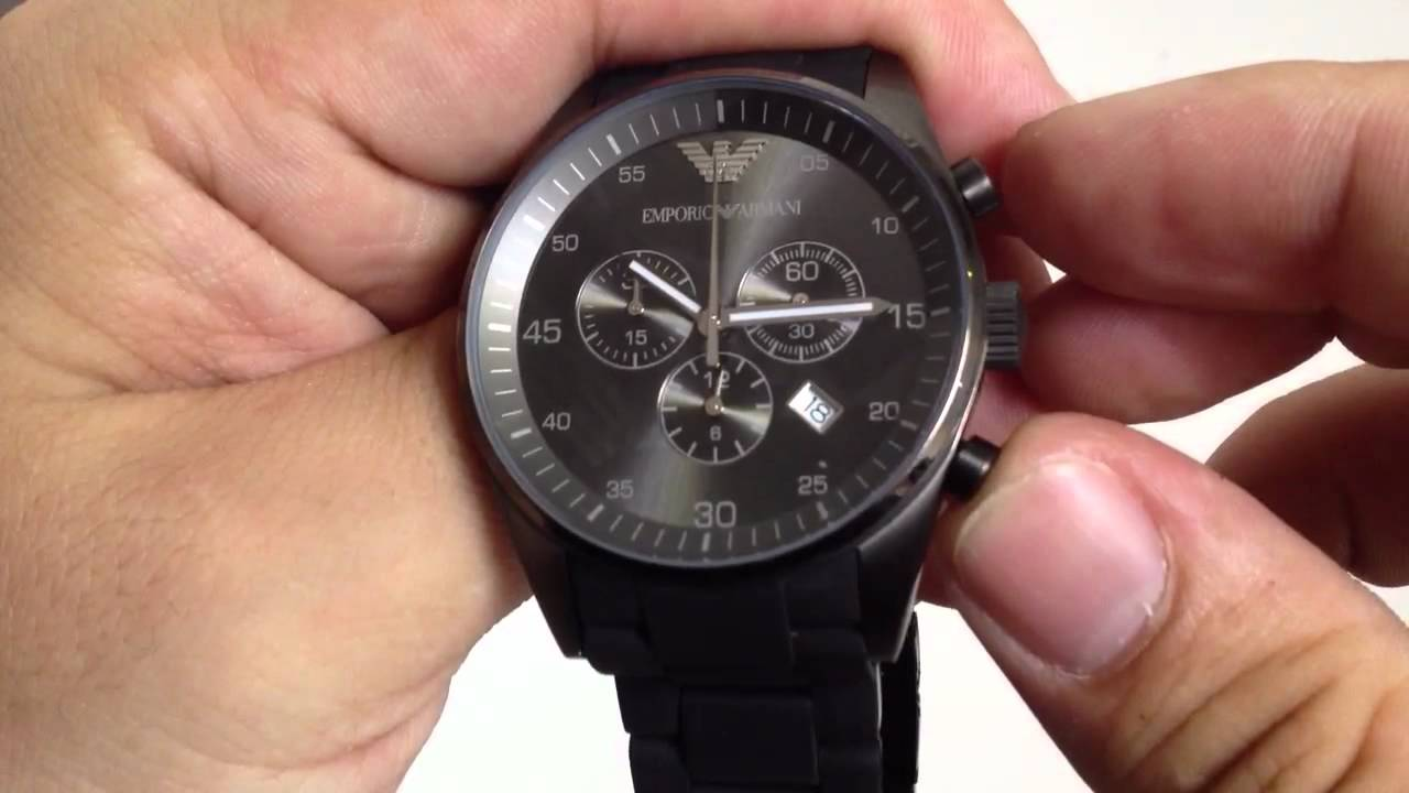 lower price with great deals various design Men's Emporio Armani Chronograph Gunmetal Watch AR5889