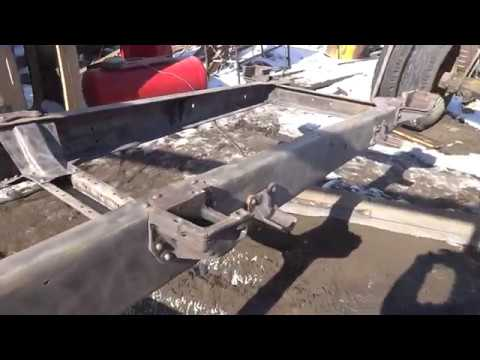 00089 кап. ремонт газ 53 , часть 4-я. подготовка рамы к покраске.