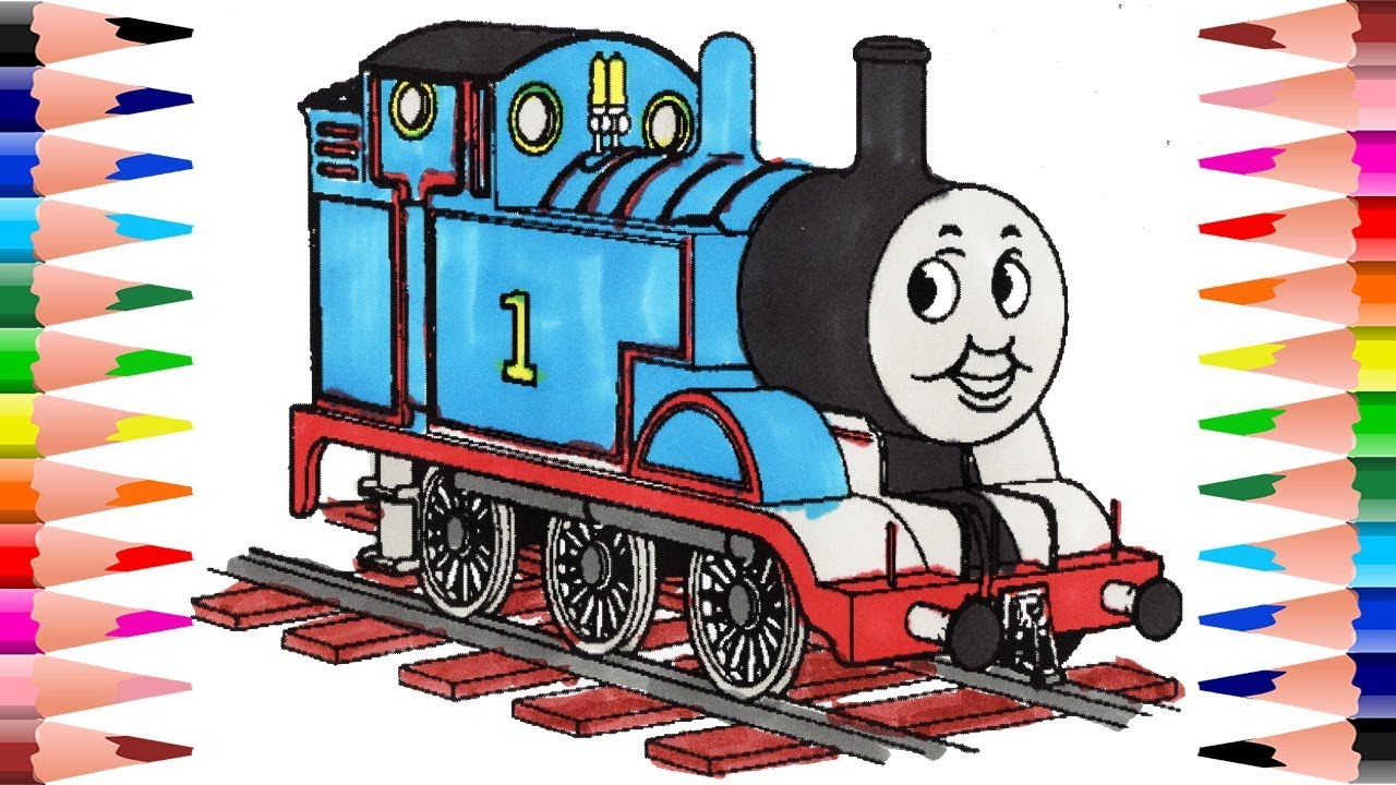 Painting Thomas The Train Coloring Book For Kids - Coloring Thomas