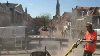 a Delft townscape under construction