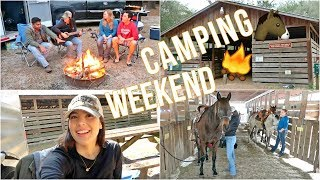 Camping With HORSES! | My Horse Reared! + Barn Tour