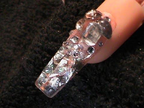 acrylic nails - ice decoden