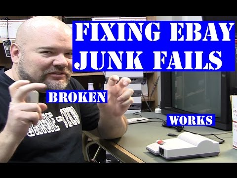 Ebay junk lot vid fails - 3 consoles falsely advertised as broken