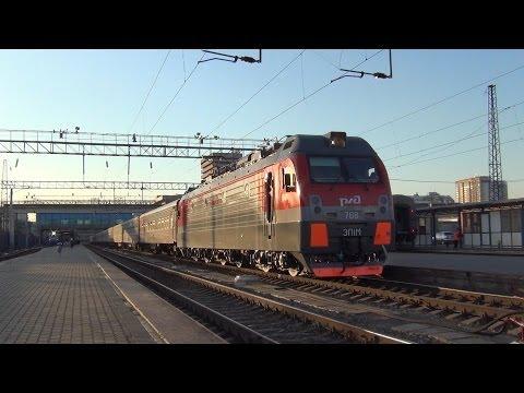 Электровоз ЭП1М-768 с поездом №198 Иркутск — Кисловодск