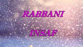 RABBANI - INSAF