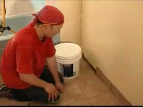 Tile baseboards part 3 attaching tile baseboards youtube