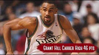 Washington Wizards vs Detroit Pistons - Game Highlights | Feb 8, 1999 | Grant Hill Career High 46 HD