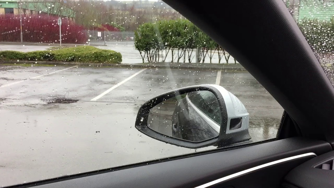 Audi A5 B9 folding mirrors fitted & mirror tilt on reverse