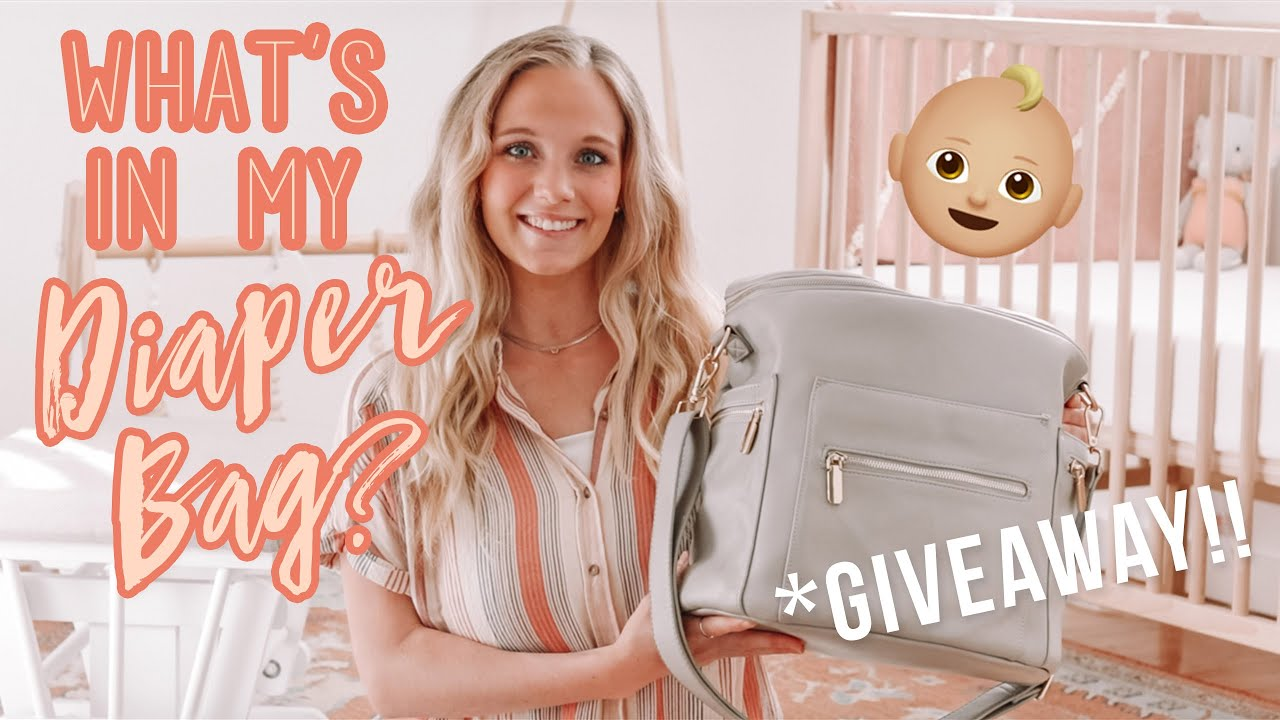 WHAT'S IN MY DIAPER BAG? + DIAPER  BAG GIVEAWAY!!! :)