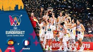Spain v France - Full Game - FIBA Women's EuroBasket - Final Round 2019