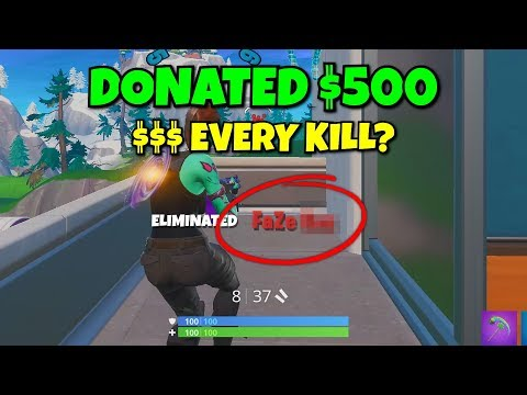i killed this faze member and donated every kill he got... (so epic)