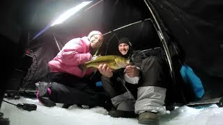 i mn fishing s take a kid bluegill and bass ice fishing ep 6